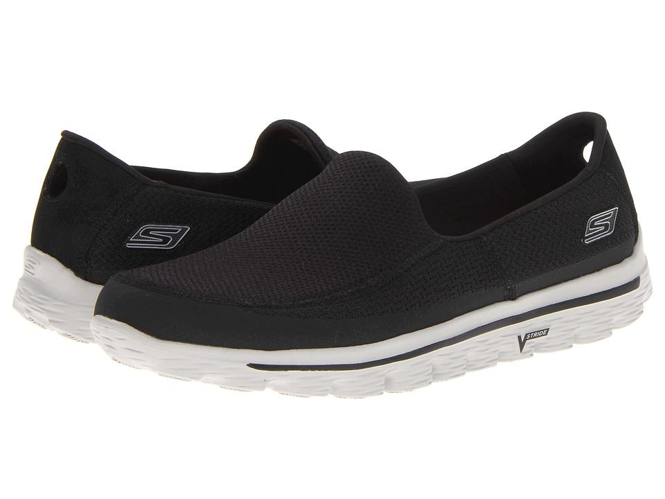 SKECHERS Performance - GOWalk 2 (Black Grey) Men's Slip on Shoes
