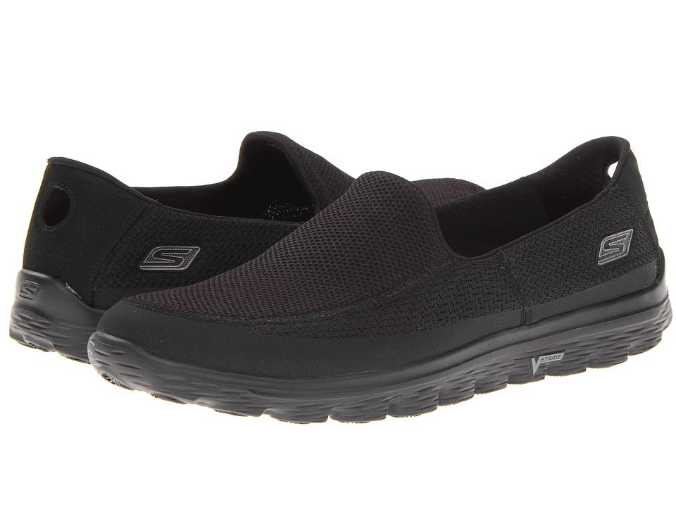 SKECHERS Performance - GOWalk 2 (Black) Men's Slip on Shoes