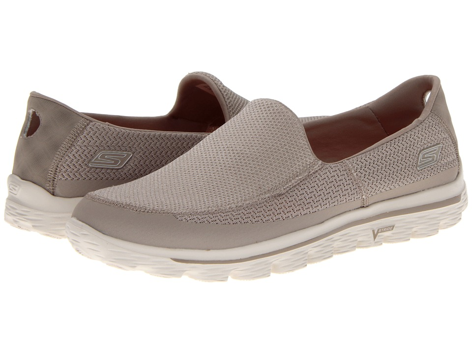 562f1b6ace9d1 ... UPC 887047506258 product image for SKECHERS Performance GOwalk 2 (Stone)  Men's Slip on Shoes ...