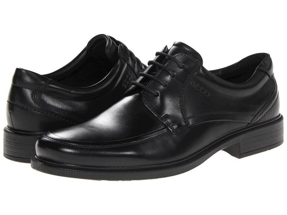 ECCO Dublin Apron Toe Tie (Black Santiago) Men