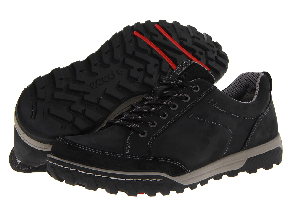 ECCO Sport - Urban Lifestyle Vermont (Black/Black Oil Suede/Oil Nubuck) Men's Lace up casual Shoes