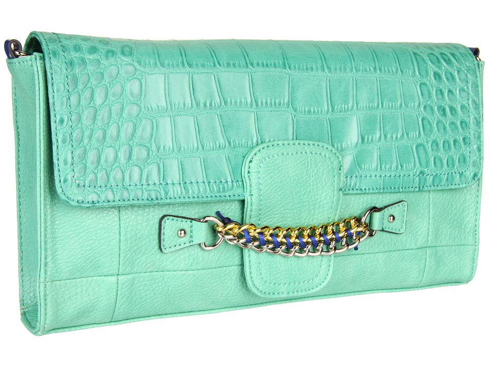 Jessica Simpson - Fearless Clutch (Mint) Clutch Handbags