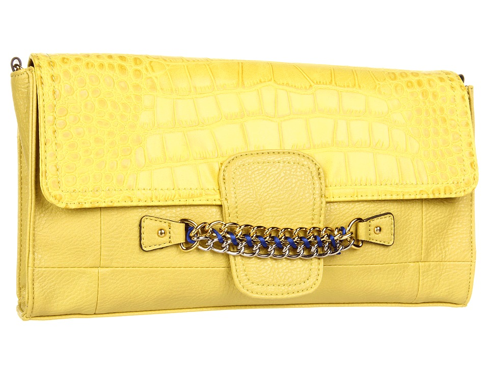 Jessica Simpson - Fearless Clutch (Lemon) Clutch Handbags