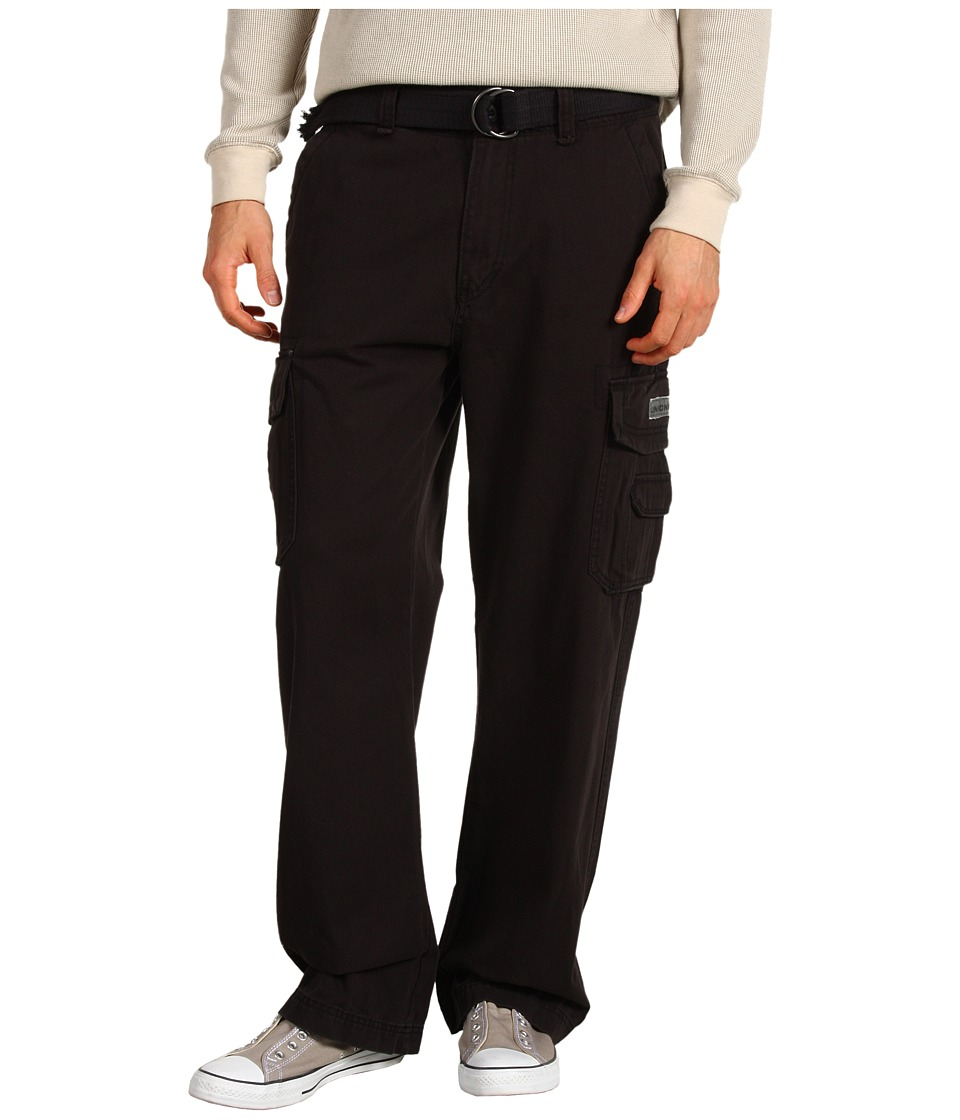 UNIONBAY - Survivor IV Belted Cargo Pant (Black) Men's Casual Pants
