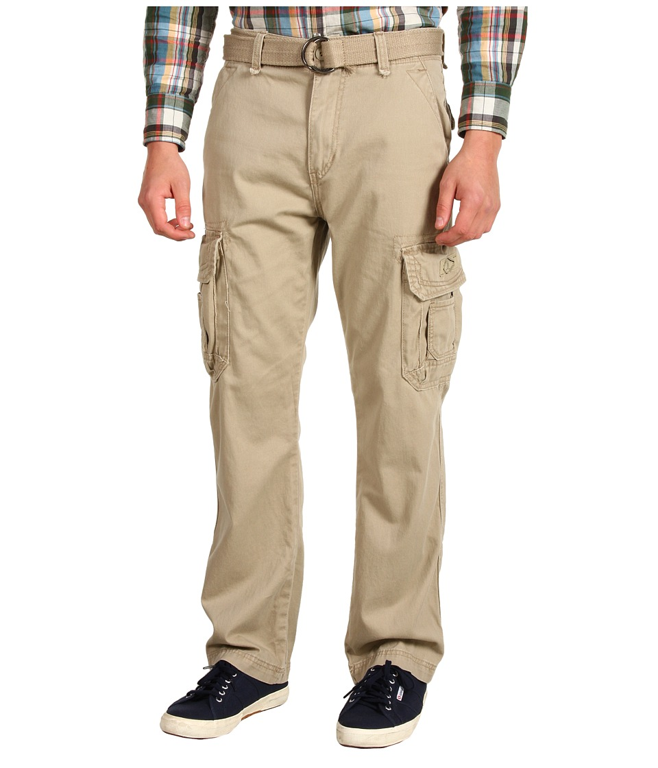 UNIONBAY - Survivor IV Belted Cargo Pant (Desert) Men's Casual Pants