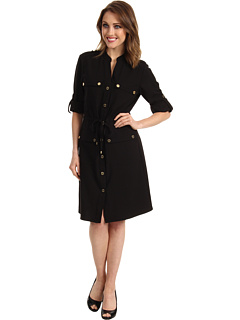 SALE! $69.99 - Save $70 on Calvin Klein Safari Shirt Dress (Black) Apparel - 49.83% OFF $139.50