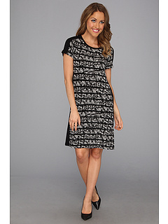 SALE! $39.8 - Save $60 on Calvin Klein T Shirt Dress (Black True White Multi) Apparel - 60.00% OFF $99.50