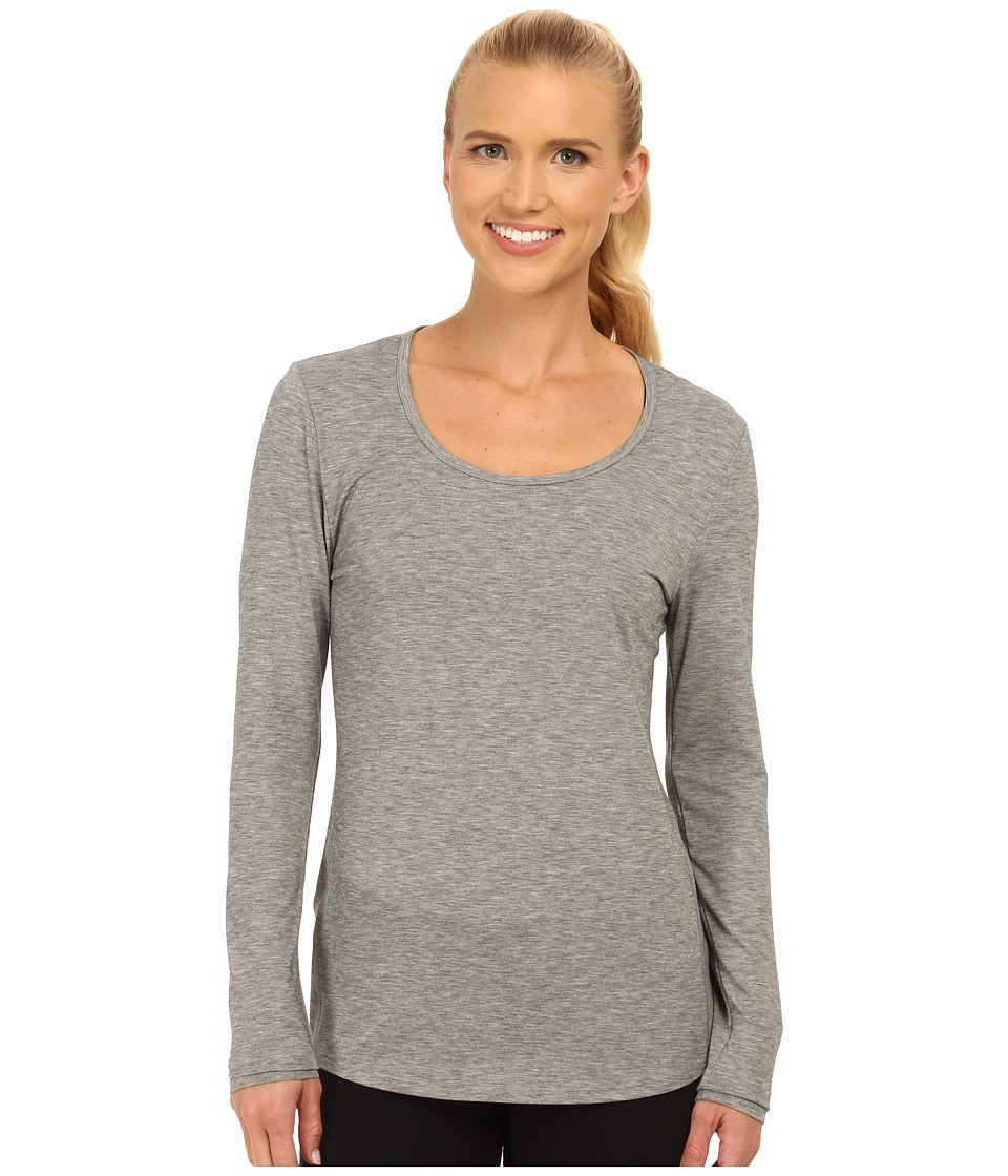 Lucy - L/S Workout Tee (Asphalt Heather) Women's Workout