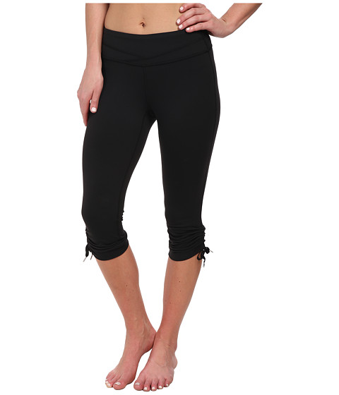 Lucy - Hatha Convertible Capri Legging (Lucy Black) Women's Capri