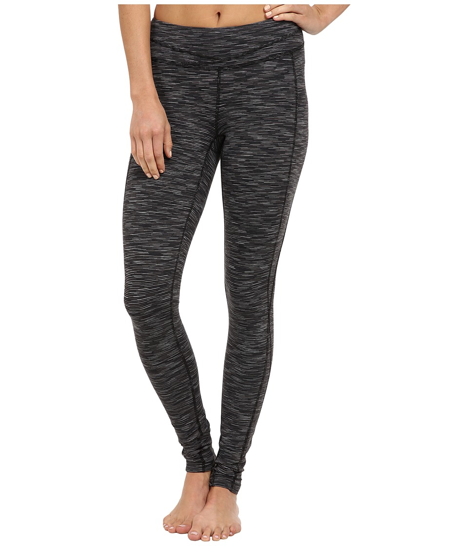 Lucy - Hatha Legging (Lucy Black Space Dye Stripe) Women's Workout