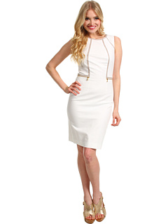 SALE! $47.8 - Save $72 on Calvin Klein Piped Sheath Dress (Ivory) Apparel - 60.00% OFF $119.50