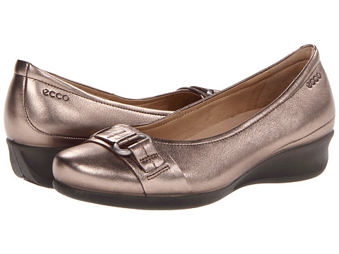 ECCO - Abelone Buckle (Warm Grey Metallic) Women's Wedge Shoes