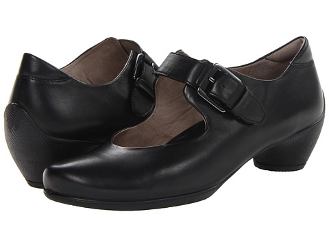 ECCO - Sculptured Buckle Mary Jane (Black Soft Butter Shiny) Women's Maryjane Shoes