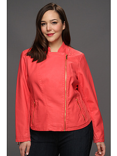 SALE! $81.99 - Save $98 on Calvin Klein Plus Size Faux Leather Moto Jacket (Porcelain Rose) Apparel - 54.32% OFF $179.50