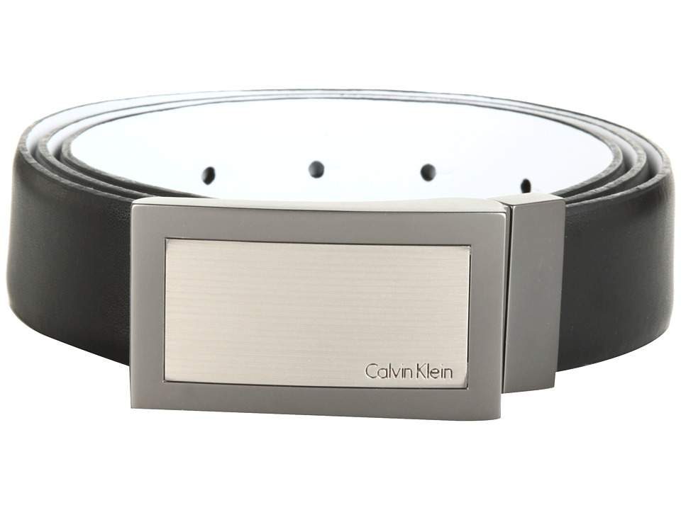 Calvin Klein - 32MM Reversible Belt (Black/White) Men's Belts