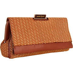 SALE! $141.99 - Save $213 on Nanette Lepore Woven Textured Frame Clutch (Brown) Bags and Luggage - 60.00% OFF $355.00