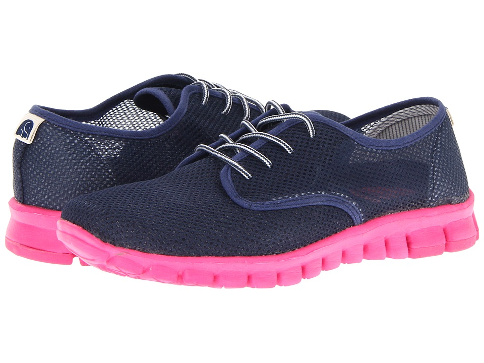 NoSoX - Winkle (Navy/Pink) Women's Lace up casual Shoes