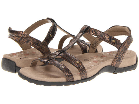taos Footwear - Trophy (Bronze Embossed) Women's Sandals