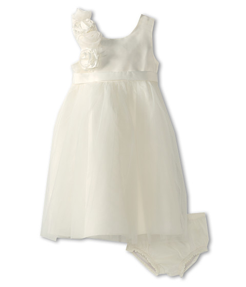 Us Angels - Empire Dress w/ Cascade of Rosettes (Infant) (Ivory) Girl