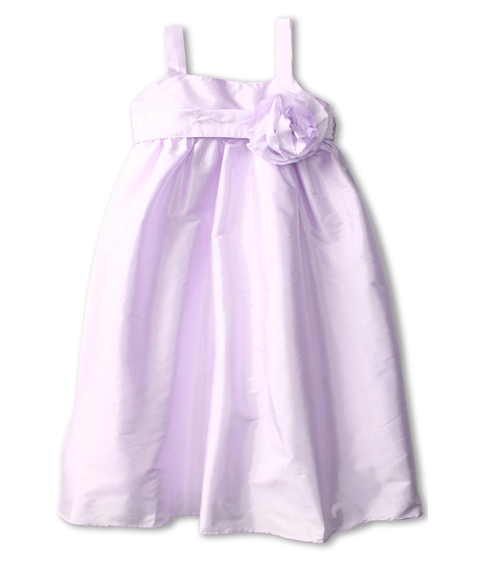 Us Angels - Empire Dress w/ Sash and Fabric Flower (Toddler) (Lavendar) Girl