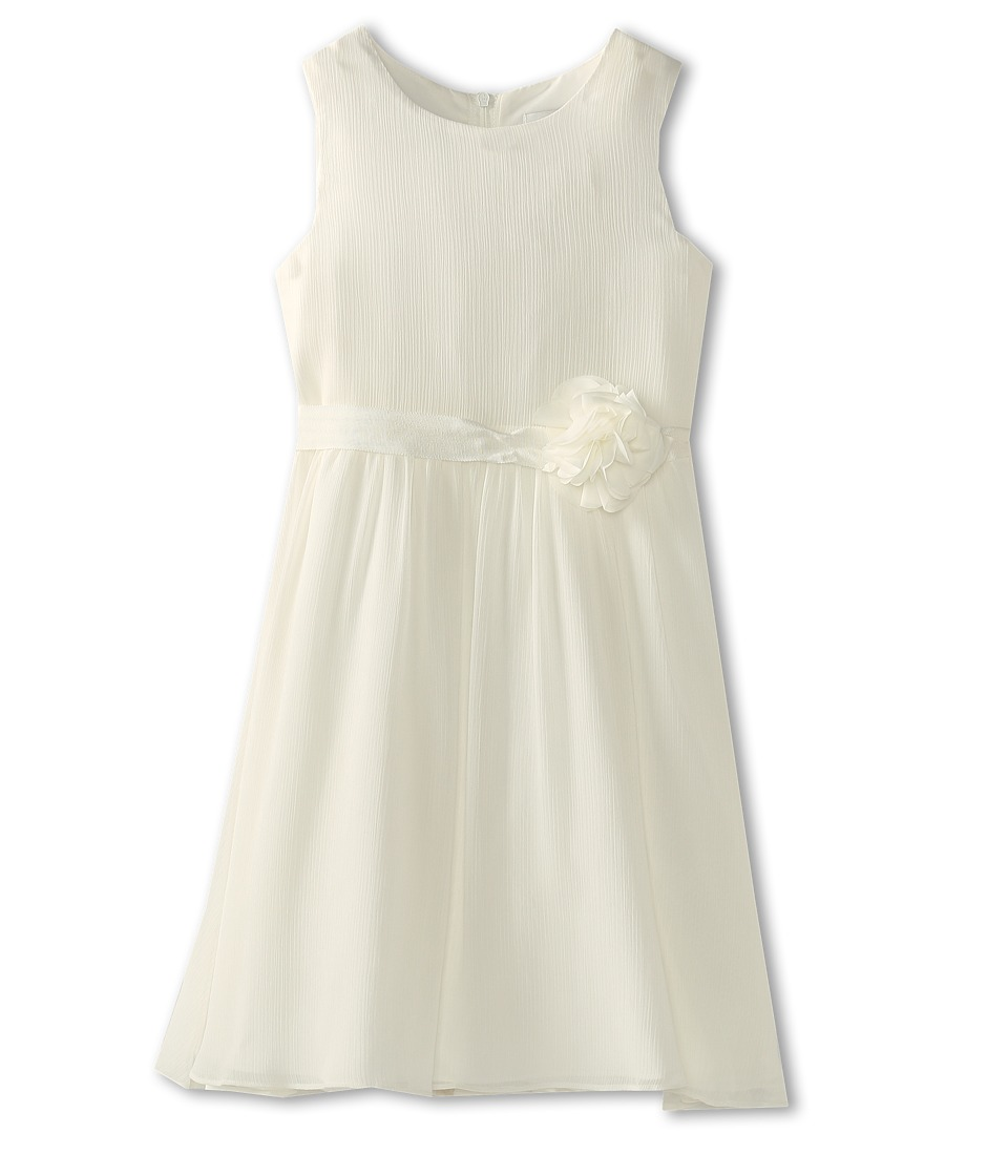 Us Angels - Chiffon Tank Dress w/ Ivory Belt (Little Kids) (Ivory) Girl's Dress