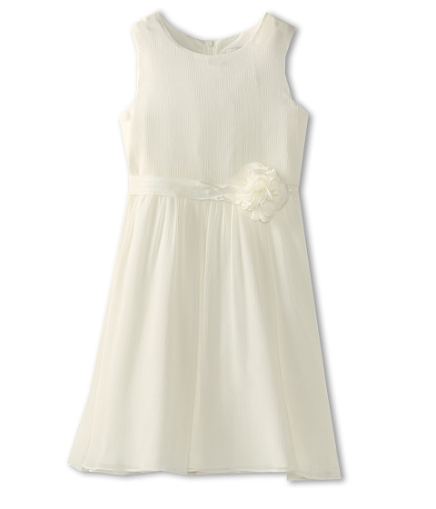 Us Angels - Chiffon Tank Dress w/ Ivory Belt (Little Kids) (Ivory) Girl