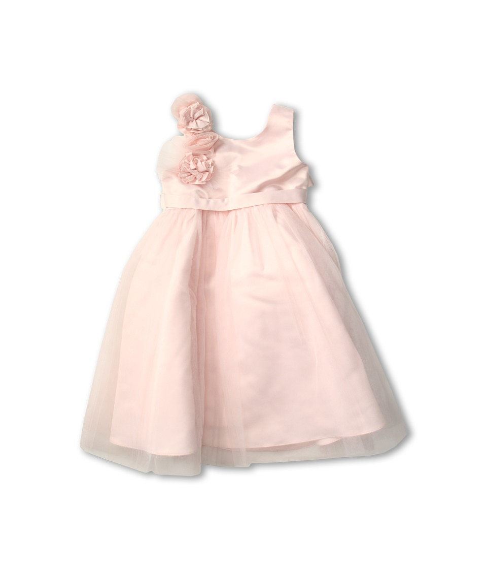 Us Angels - Empire Dress w/ Cascade of Rossettes (Big Kids) (Blush Pink) Girl's Dress