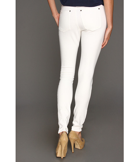 HUE - Solid Color Original Jeanz Leggings (White) Women