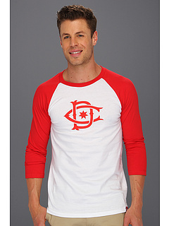 SALE! $16.99 - Save $20 on DC Rob Dyrdek Ripper Raglan Shirt (Athletic Red White) Apparel - 54.08% OFF $37.00