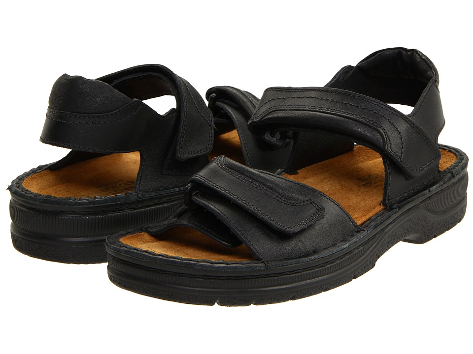 Naot Footwear - Lappland (Black Matte Leather) Men's Sandals