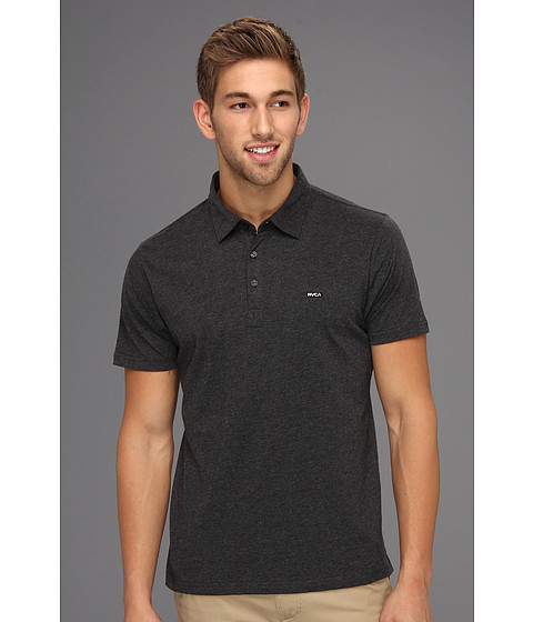 RVCA - Sure Thing Polo Shirt (Charcoal Heather) Men's Short Sleeve Pullover