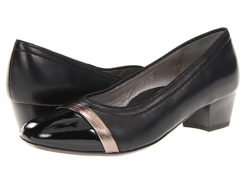 ara - Manena (Black Patent Leather / Titan Toe Cap) Women