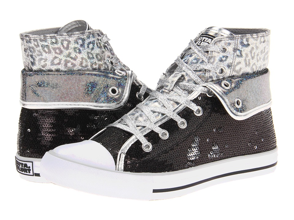 gotta FLURT - Convertible Aurora (Black/Silver) Women's Lace up casual Shoes
