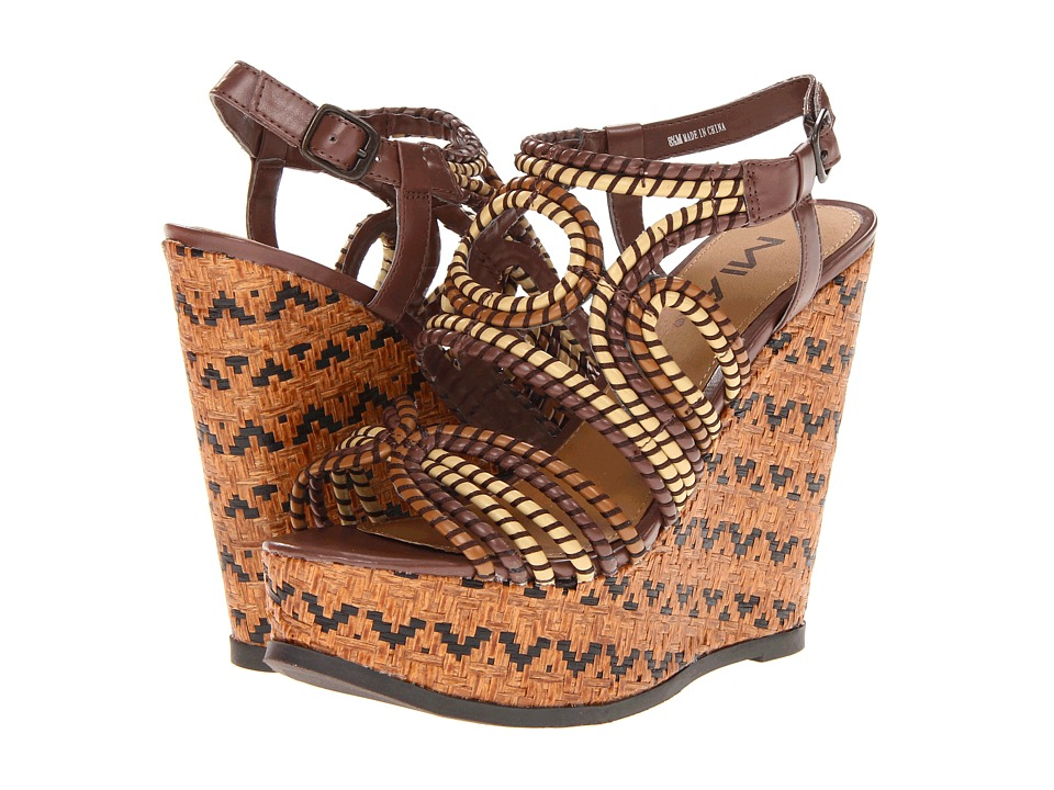 MIA - Evelyn (Brown Multi) Women's Wedge Shoes