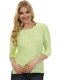 SALE! $44.99 - Save $131 on Autumn Cashmere Marled Stitch Crop Sweater (Glowworm Bleach White) Apparel - 74.44% OFF $176.00