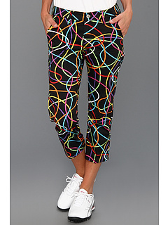 SALE! $29.99 - Save $65 on Loudmouth Golf Scribblz Capri (Black Multi) Apparel - 68.43% OFF $95.00