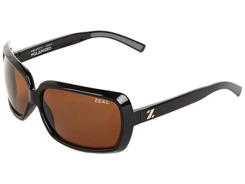 Zeal Optics - Felicity Polarized (Black Gloss w / Copper Polarized Lens) Sport Sunglasses