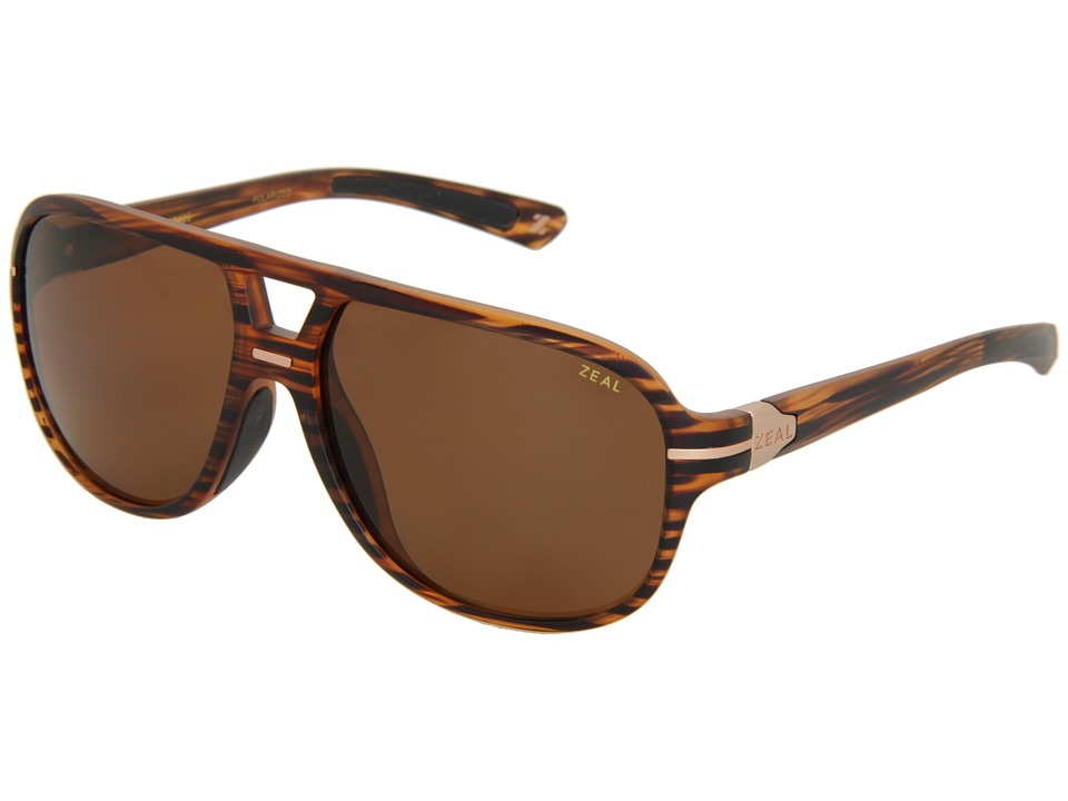 Zeal Optics - Darby (Polarized) (Matte Wood Grain w / Copper Polarized Lens) Sport Sunglasses