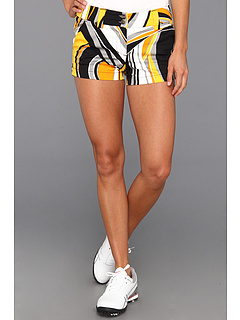 SALE! $19.99 - Save $45 on Loudmouth Golf Swirls Gone Wild Mini Short (Black Yellow Mango White) Apparel - 69.25% OFF $65.00