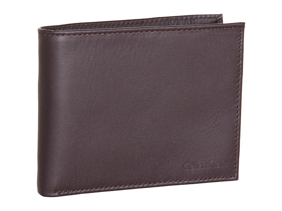 Calvin Klein - Bookfold w/ Key Fob (Brown) Wallet