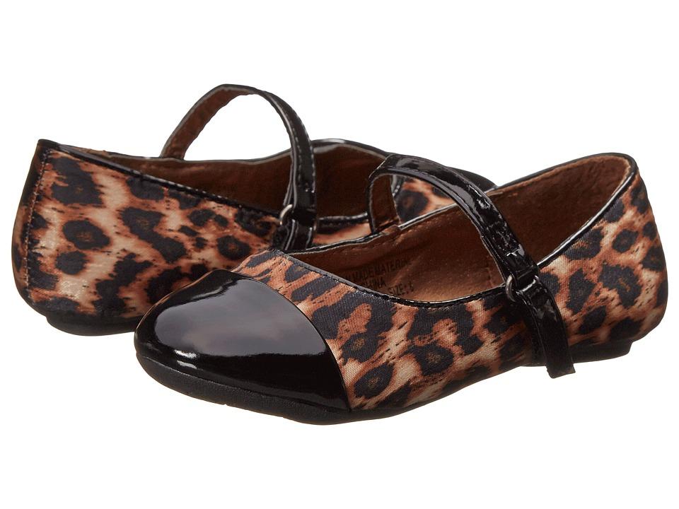 kensie girl Kids - KG30035 (Infant/Toddler) (Black Leopard) Girls Shoes