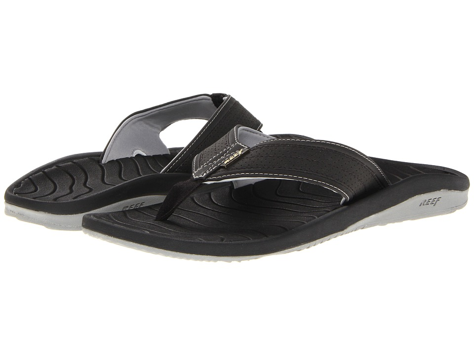 Reef - Swellular Cushion Lux (Black) Men's Sandals