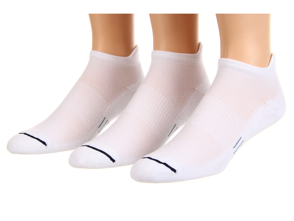 Wrightsock - Spirit Tab 3-Pair Pack (White) Low Cut Socks Shoes