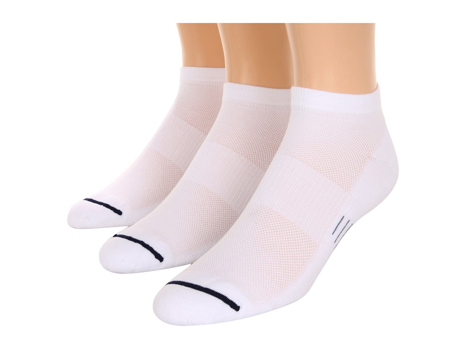 Wrightsock - Spirit Lo 3-Pair Pack (White) Low Cut Socks Shoes