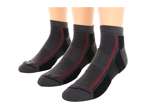Wrightsock - XFit Lo 3-Pair Pack (Ash) Quarter Length Socks Shoes