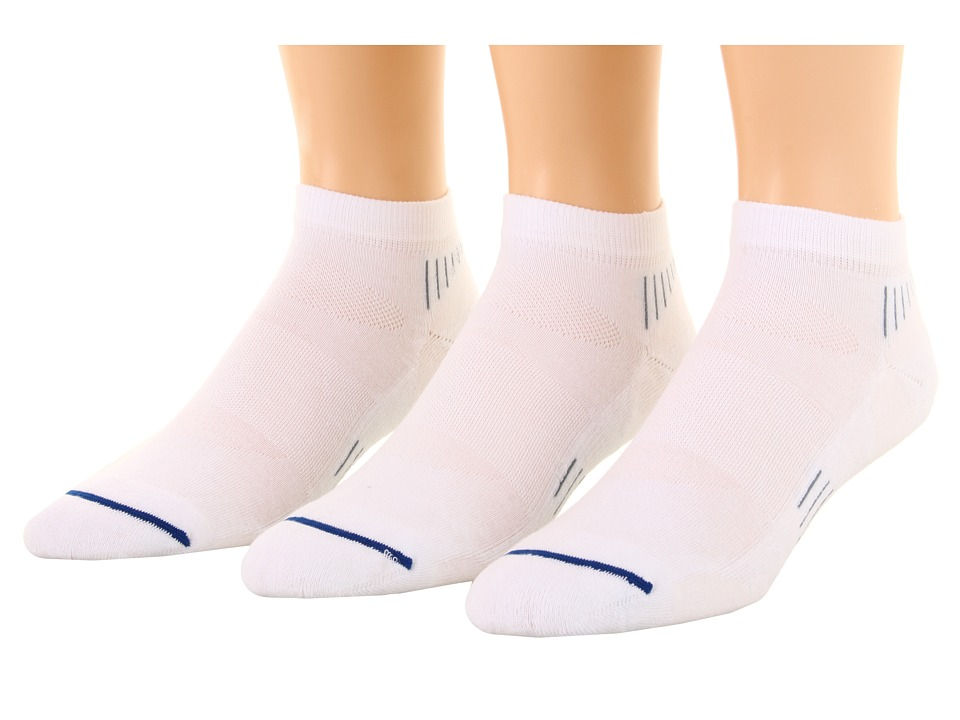 Wrightsock - Velocity Lo 3-Pair Pack (White) Low Cut Socks Shoes