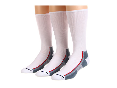Wrightsock - Xfit Crew 3-Pair Pack (White/Grey) Crew Cut Socks Shoes