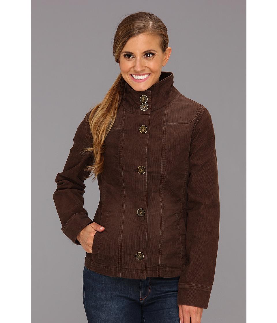 Prana - Kara Cord Jacket (Espresso) Women's Coat