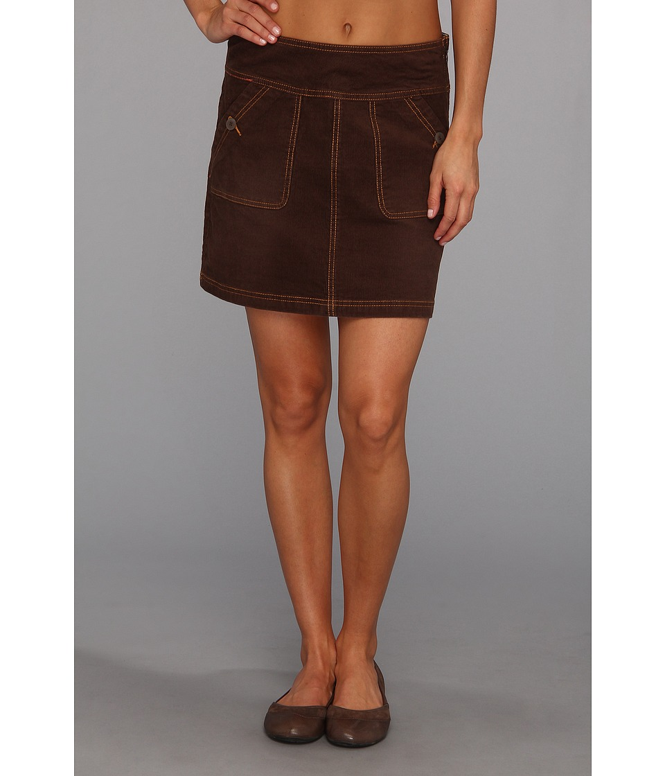 Prana - Canyon Cord Skirt (Espresso) Women's Skirt