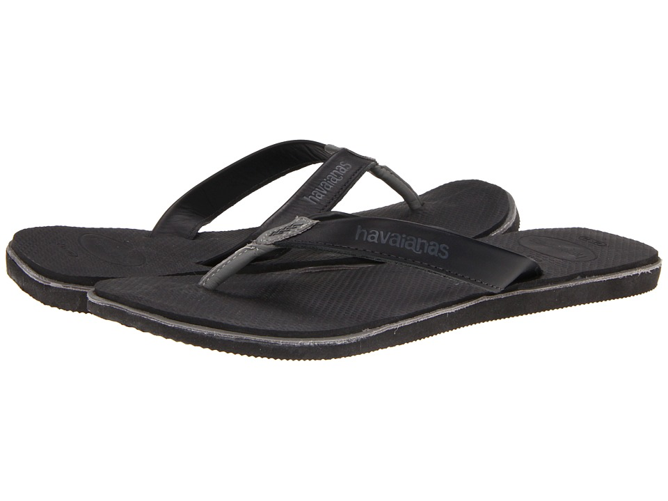 Havaianas - Urban Premium Flip Flops (Black/Grey) Men's Sandals